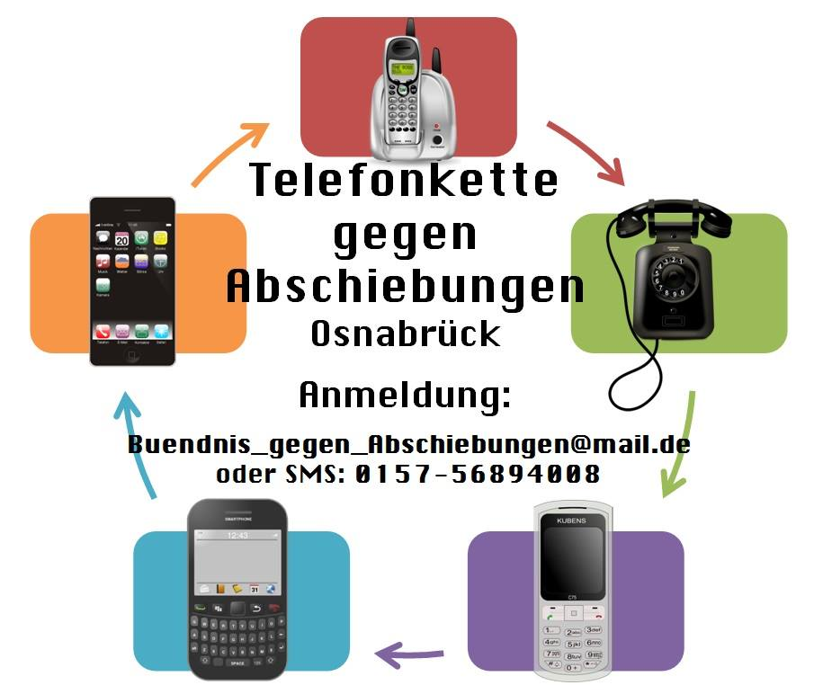 Telefonkette gegen Abschiebungen