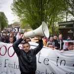 Refugee-Spontandemo im Lager Bramsche; 26.04.2015